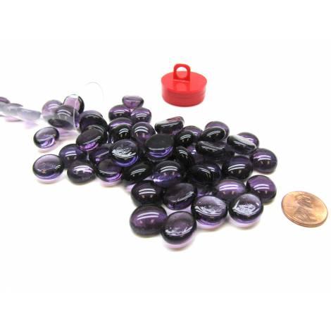Violet Glass Stones (40) 4 Tube