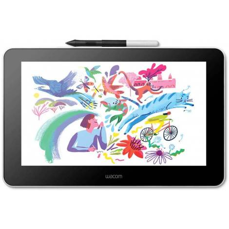 Wacom One Creative Pen Display with Free Software for On Screen Sketching and Drawing, 13.3 Inch, 1920 x 1080 Full HD Display, Vibrant Colour, Pen Precision, Compatible with Android, Windows & Mac