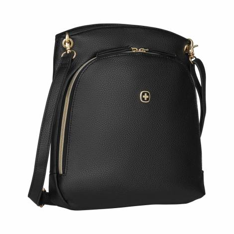 Wenger, LeaSophie, Crossbody Tote with Tablet Pocket, Black ( R ) (610189)