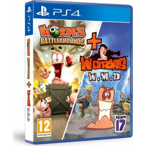 WORMS DOUBLE PACK BATTLEGROUNDS & WEAPONS OF MASS DISTRUCTION (PS4)