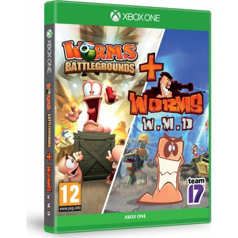 WORMS DOUBLE PACK BATTLEGROUNDS & WEAPONS OF MASS DISTRUCTION (Xbox One)
