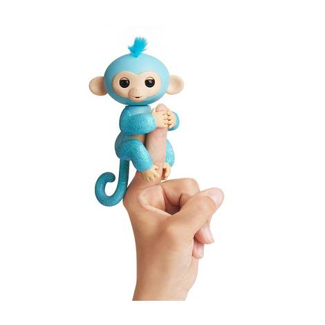 WowWee Fingerlings Glitter Monkey Amelia Blue