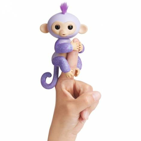 WowWee Fingerlings Glitter Monkey Kiki Purple