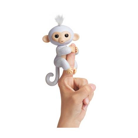 Wowwee Fingerlings Glitter Monkey Sugar White