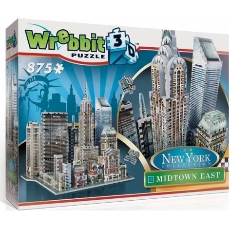 Wrebbit Παζλ 3D 875τεμ. (W3D-2011) New York Midtown East
