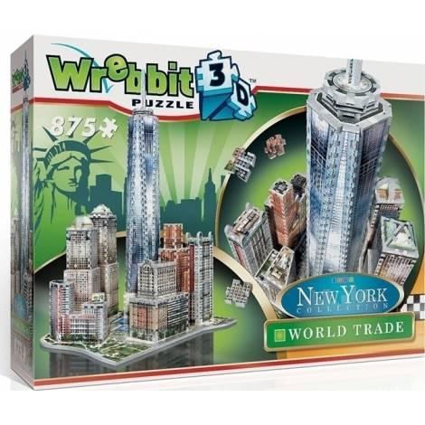 Wrebbit Παζλ 3D 875τεμ. (W3D-2012) New York Downtown Trade Center