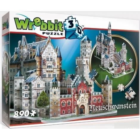 Wrebbit Παζλ 3D 890τεμ. (W3D-2005) Neuschwanstein Castle