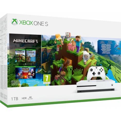 Xbox One S 1TB Minecraft Aquatic bundle (Xbox One)