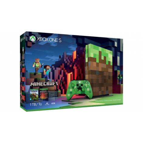 XBOX ONE S Console 1TB Minecraft Limited Edition (XBOX ONE)