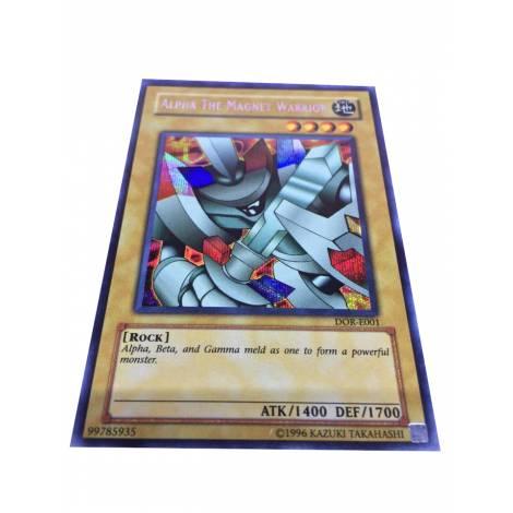 YuGiOh Card - Alpha the Magnet Warrior DOR-E001 Secret Rare