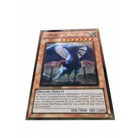 YuGiOh ! Judgment Dragon Gold Rare GLD3-EN016 LIMITED EDITION